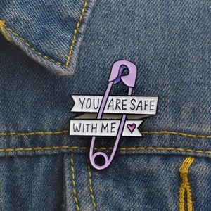 New you are safe with me pin brooch